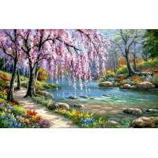 """Картина по номерам раскраска """"Живописный пейзаж"""""""