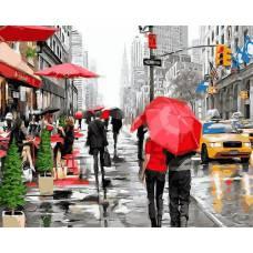 "Картина по номерам раскраска ""Улочки Нью-Йорка"""