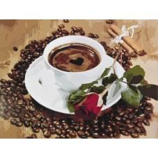 """Картина по номерам раскраска """"Кофейный натюрморт"""""""