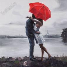 """Картина по номерам раскраска """"Поцелуй у озера"""""""