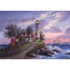 """Картина по номерам раскраска """"Лестница в маяк"""""""