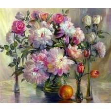 """Картина по номерам раскраска """"Композиция цветов"""""""