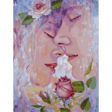 """Картина по номерам раскраска """"Милая роза"""""""