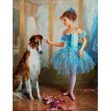 """Картина по номерам раскраска """"Юная балерина"""""""