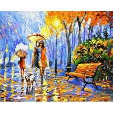 """Картина по номерам раскраска """"Прогулка под зонтом"""""""
