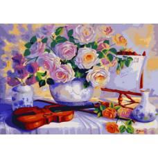 "Картина по номерам раскраска ""Натюрморт со скрипкой"""