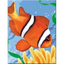 """Картина по номерам раскраска """"Рыбка"""""""