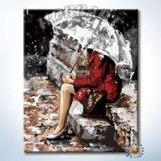 """Картина по номерам раскраска """"Под зонтом"""""""