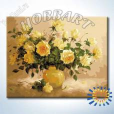 "Картина по номерам раскраска ""Чайная роза"""
