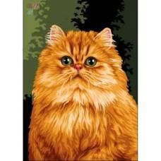 """Картина по номерам раскраска """"Рыжий кот"""""""