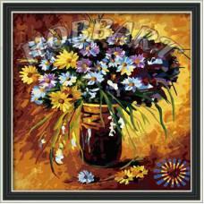 """Картина по номерам раскраска """"Полевые цветы"""""""