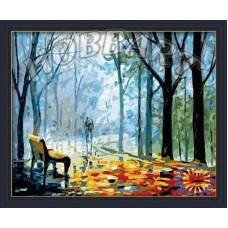 """Картина по номерам раскраска """"Дождливая аллея"""""""