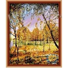 """Картина по номерам раскраска """"В золоте листвы"""""""