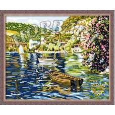 """Картина по номерам раскраска """"Водная рябь"""""""