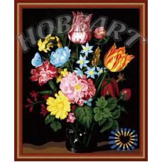 """Картина по номерам раскраска """"Букет разноцветий"""""""