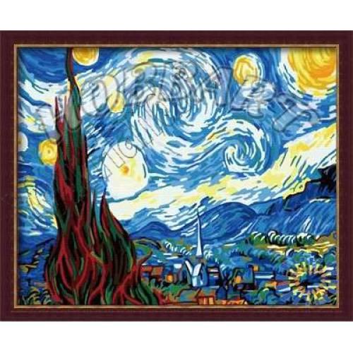 """Картины по номерам, раскраска холст """"Звездная ночь"""" дешево ..."""