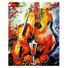 """Картина по номерам раскраска """"Музыкальный натюрморт"""""""