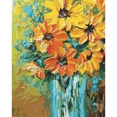 """Картина по номерам раскраска """"Буйство оранжевого"""""""