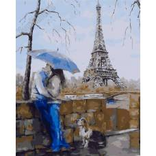"""Картина по номерам раскраска """"Поцелуй в Париже"""""""