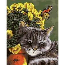 """Картина по номерам раскраска """"Утомленный цветком"""""""