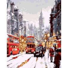 """Картина по номерам раскраска """"Заснеженный Лондон"""""""