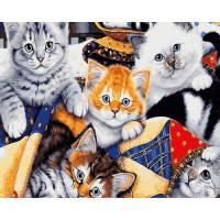 """Картина по номерам раскраска """"Пять котят"""""""
