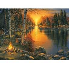 """Картина по номерам раскраска """"В свете заката"""""""