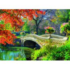 "Картина по номерам раскраска ""Мост через реку"""