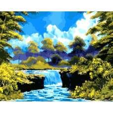 """Картина по номерам раскраска """"Водный порог"""""""