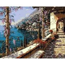 """Картина по номерам раскраска """"Солнечное побережье"""""""