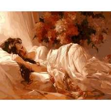 """Картина по номерам раскраска """"Дневной сон"""""""