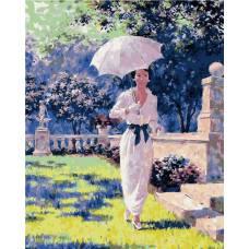 "Картина по номерам раскраска ""Прогулка в саду"""
