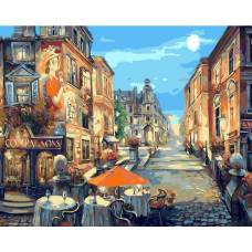 "Картина по номерам раскраска ""Кафе на улице"""
