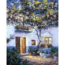 """Картина по номерам раскраска """"Тихий дворик"""""""