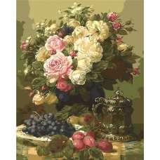 """Картина по номерам раскраска """"Натюрморт с виноградом"""""""