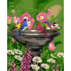 "Картина по номерам раскраска ""Чаша в саду"""
