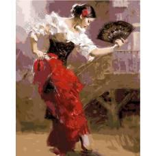 """Картина по номерам раскраска """"Испанский танец"""""""