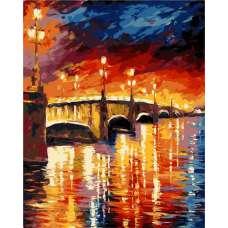 """Картина по номерам раскраска """"Живописный мост"""""""
