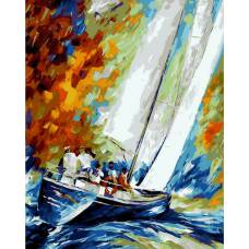 """Картина по номерам раскраска """"Яхта"""""""