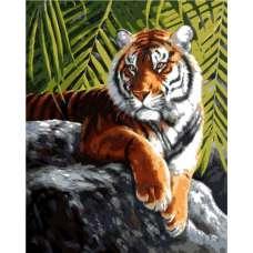 """Картина по номерам раскраска """"Тигр на отдыхе"""""""