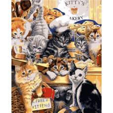 """Картина по номерам раскраска """"Веселые котята"""""""