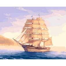 """Картина по номерам раскраска """"Корабль"""""""
