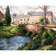 """Картина по номерам раскраска """"Каменный мост"""""""