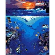 """Картина по номерам раскраска """"Морской риф"""""""