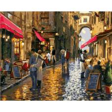 """Картина по номерам раскраска """"Дождливый день"""""""
