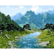 "Картина по номерам раскраска ""Горная река"""