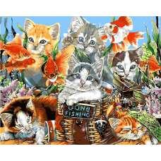 """Картина по номерам раскраска """"Котята"""""""