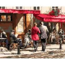 """Картина по номерам раскраска """"Двое у Городского кафе"""""""