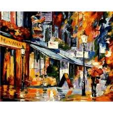 """Картина по номерам раскраска """"Ночной городок"""""""