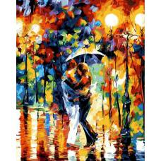 """Картина по номерам раскраска """"Танец под дождем"""""""